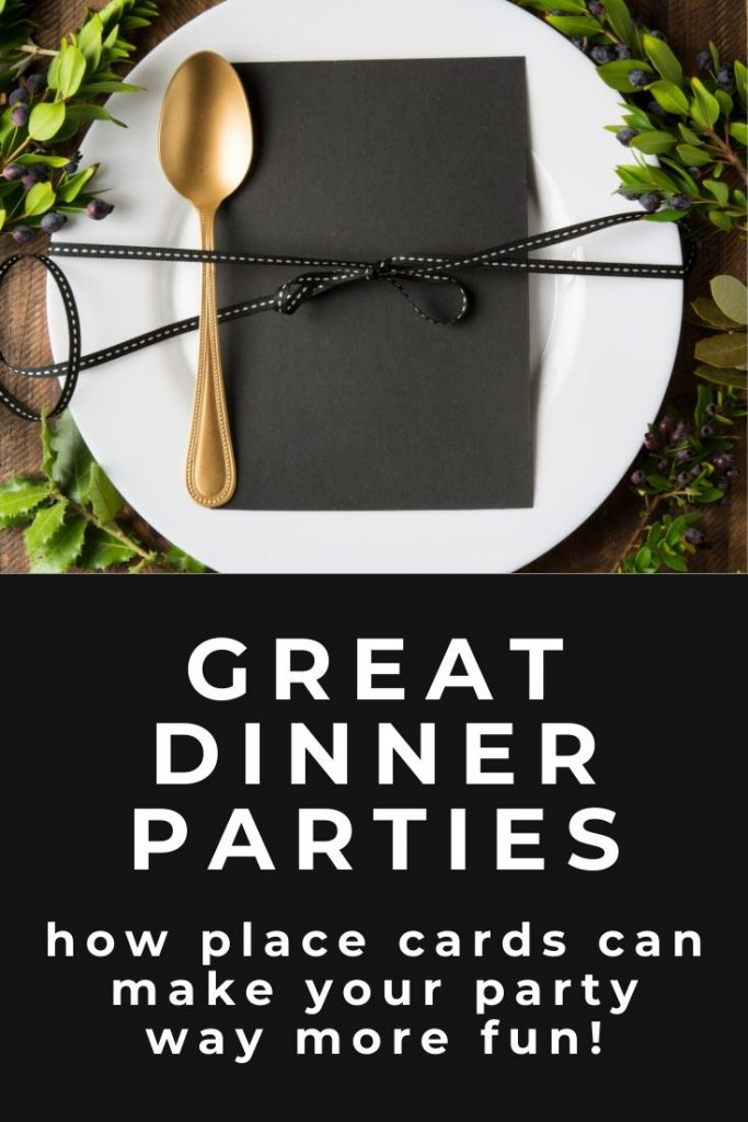 Create a great dinner party with place cards. See all the big advantages to using them to create a great evening for all as well as special tips to do it right! #entertainingtips #placecards #partytips