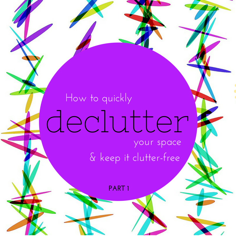 Make your home a happy space! How to easily declutter your living space & keep it clutter-free! Part 1 (The Health-Minded.com) #organization