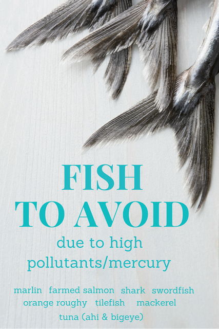fish, high pollutants and mercury in fish