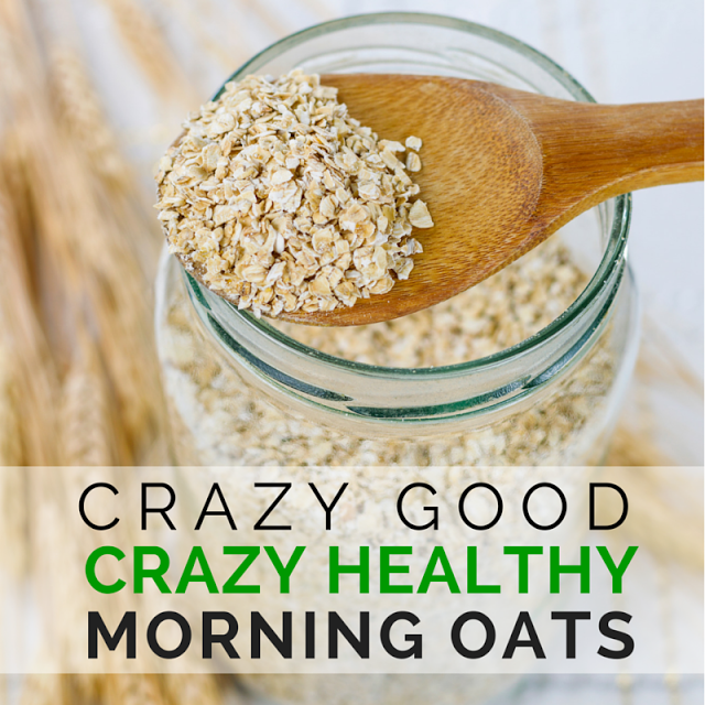 Amp your breakfast and begin your day right with this crazy good, crazy easy, super healthy way to eat oats loaded with health benefits! (TheHealthMinded,com) #healthyrecipe
