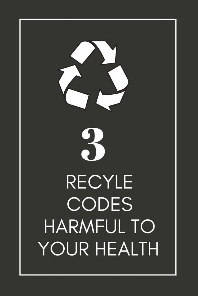 Some plastics should be avoided for best health1 Tap here to find the 3 most harmful recycling codes found on plastic containers to avoid. These particular plastics hold chemicals harmful to your body.