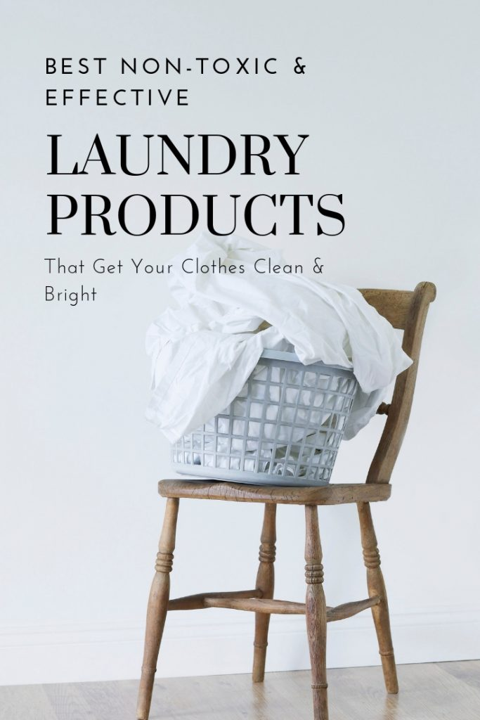 Detox your home by simply switching laundry products! Tap her to learn the best non-toxic laundry products that get your clothes clean and bright and stain-free, too.